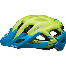 KED Status Helmet Junior Green Blue Matt